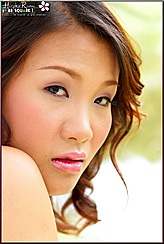 Thai Girl With Lips Parted Giving Sensuous Look