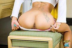 Pulling Panties Down Exposing Her Ass