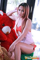 Seated With Teddy Bear