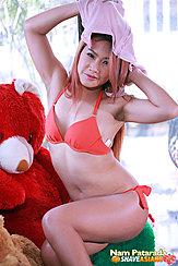 Nam Patarada Removing Her Top In Bra And Panties