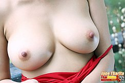 Top Pulled Down Over Her Breasts