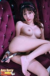 On Her Side Nude Knee Raised Bare Foot Masturbating With Vibrator