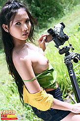 Adjusting Camera Lcd Bare Breasts