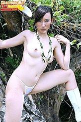 Topless In White Panties