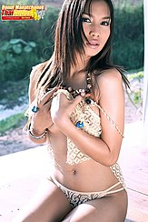 Donut Manatchanok Raising Top Over Her Breasts