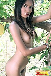 Standing Under Tree Nude Pert Tits Pussy Hair