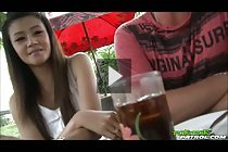 Beauty Hanna Lee picked up for threesome sex